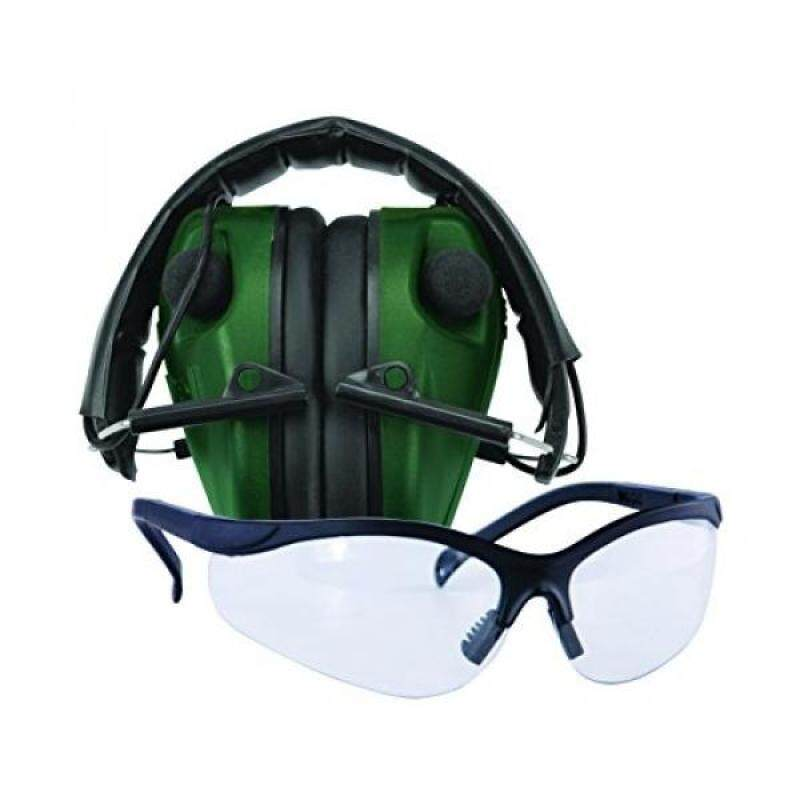 Buy Caldwell E-Max LoPro Electronic Muffs with Shooting Glasses, Green Malaysia