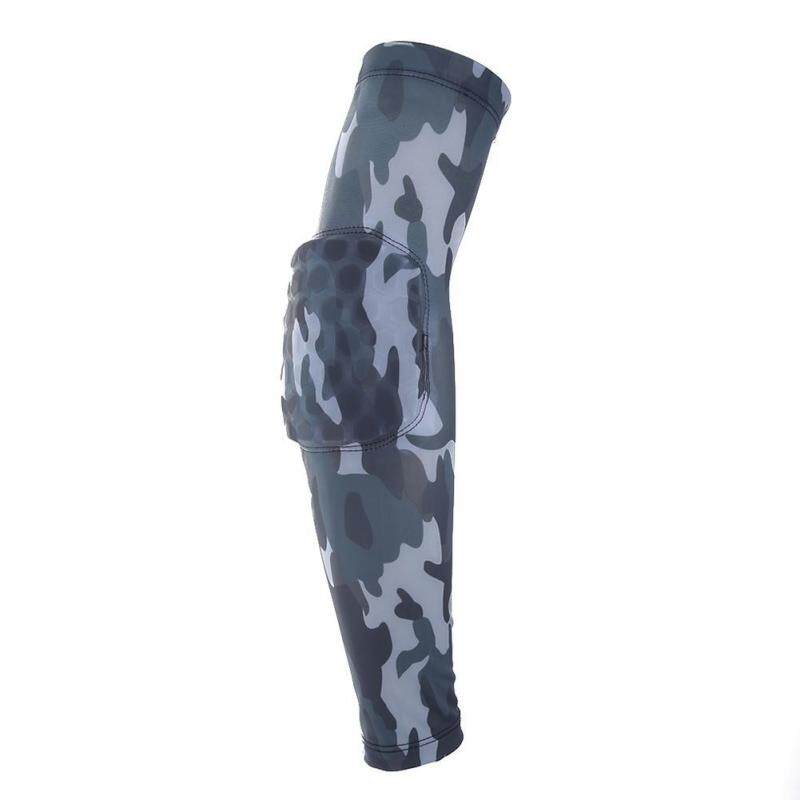 Camouflage Breathable Honeycomb Sports Pro Lengthen Elbow Support Elbowpad(Floral)-S