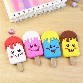 Harga Cartoon Korean board face ice cream rubber rub