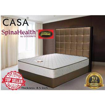 Harga Casa Goodnite Spinahealth 8.5 inch Posture IShape Spring Queen Mattress Only (10 Years Warranty)