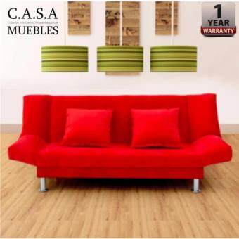 Harga CASA MUEBLES : IRIS 2 Seater Durable Foldable Sofa with 1 YEAR WARRANTY