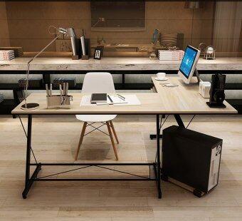 computer office table. Casa Soreno Corner L Shape Desk Maple Computer Office Table Top With Black Frame Malaysia F