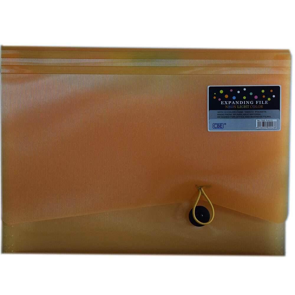 CBE 4313 13P Expanding File (A4) Orange (Item No: B10-123 OR)