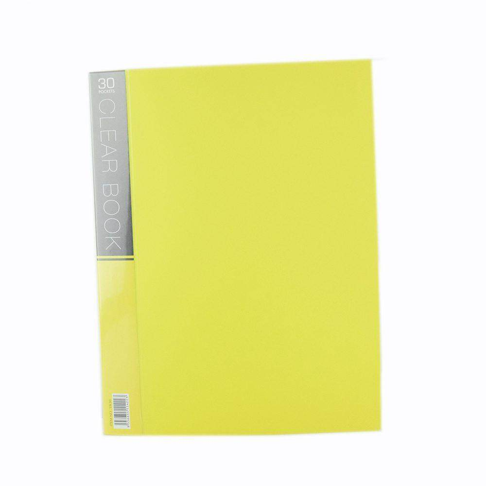 CBE Merry Colour Clear Book VK30 A4 YELLOW ( ITEM NO : B10 55 Y )