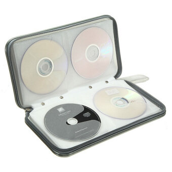 cd dvd storage case wallet bag holder silver