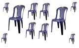 (OW) Century Dinner Chair (Blue) Set of 10