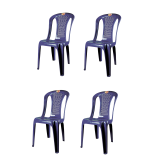 (OW) Century Dinner Chair (Blue) Set of 4