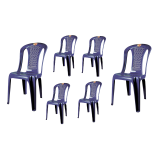 (OW) Century Dinner Chair (Blue) Set of 6