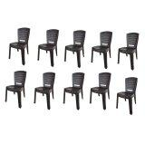 (OW) Century Dinner Chair (Brown) Set of 10