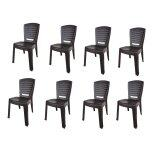 (OW) Century Dinner Chair (Brown) Set of 8