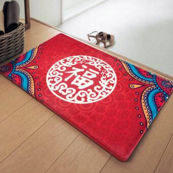Chinese bedroom doorway lucky mat rug