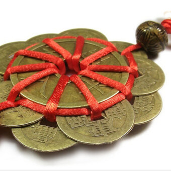 Chinese FENG SHUI Bring-luck Against-Evil Ancient I CHING LuckyCoins Decor - 4