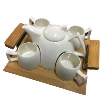 Harga Chinese Tea Set White Colour