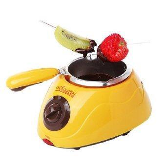 Chocolatiere Fondue Machine & Decorating Kit Set (Yellow)