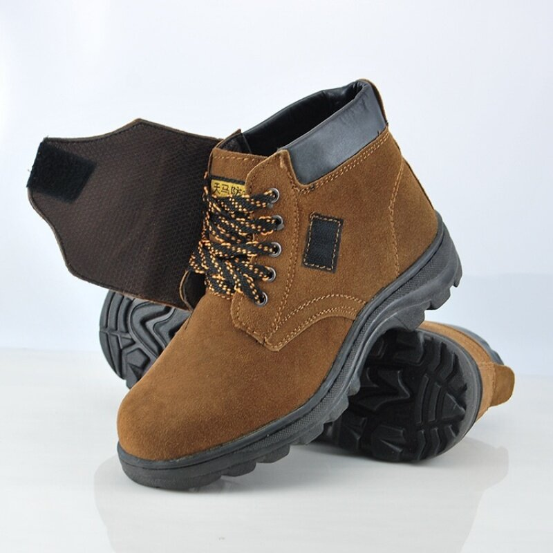 Buy Chun Pegasus New style high-top safety shoes steel toe protective shoes for men and women work shoes labor anti-smashing anti-stab safety shoes Malaysia