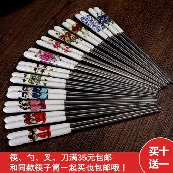 Cimeike Health Environmentally Friendly heat resistant chopsticks stainless steel chopsticks