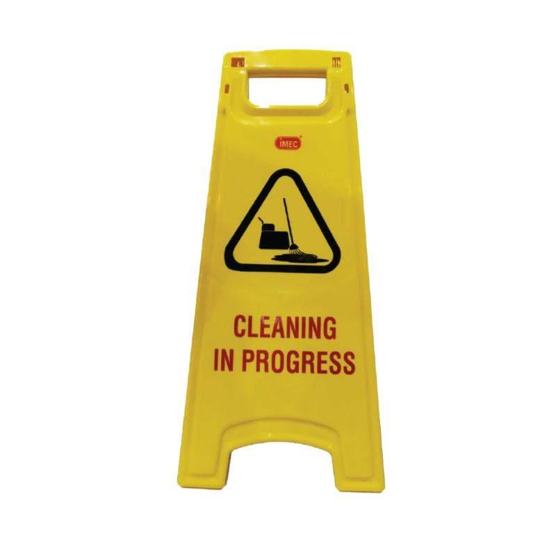 Cleaning in Progress Floor Sign, IMEC A Floor Sign, 25 inch (Yellow)