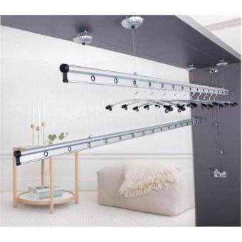 Harga Cloth Drying Ceiling Wall Mount Rack Hanger