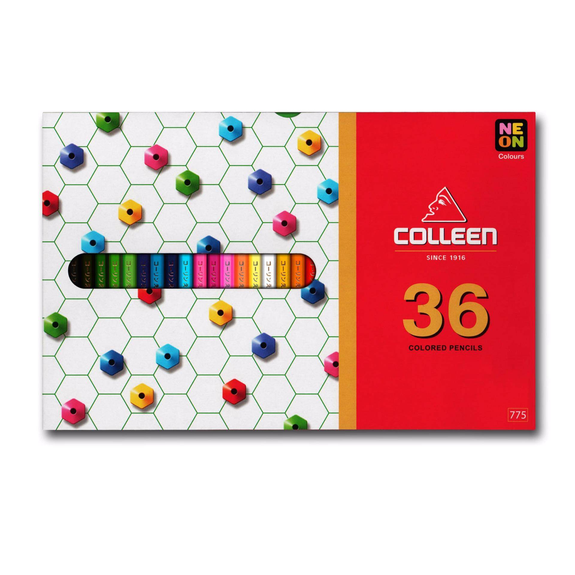 COLLEEN 775 Color Pencil (Hexagon) 36 Colors FREE Norino Glue Tape