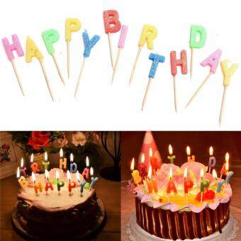 Colorful Candles Toothpick -Happy Birthday - 3