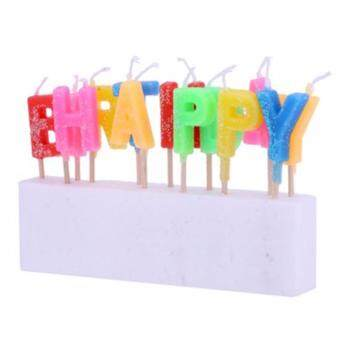 Colorful Candles Toothpick -Happy Birthday - 5