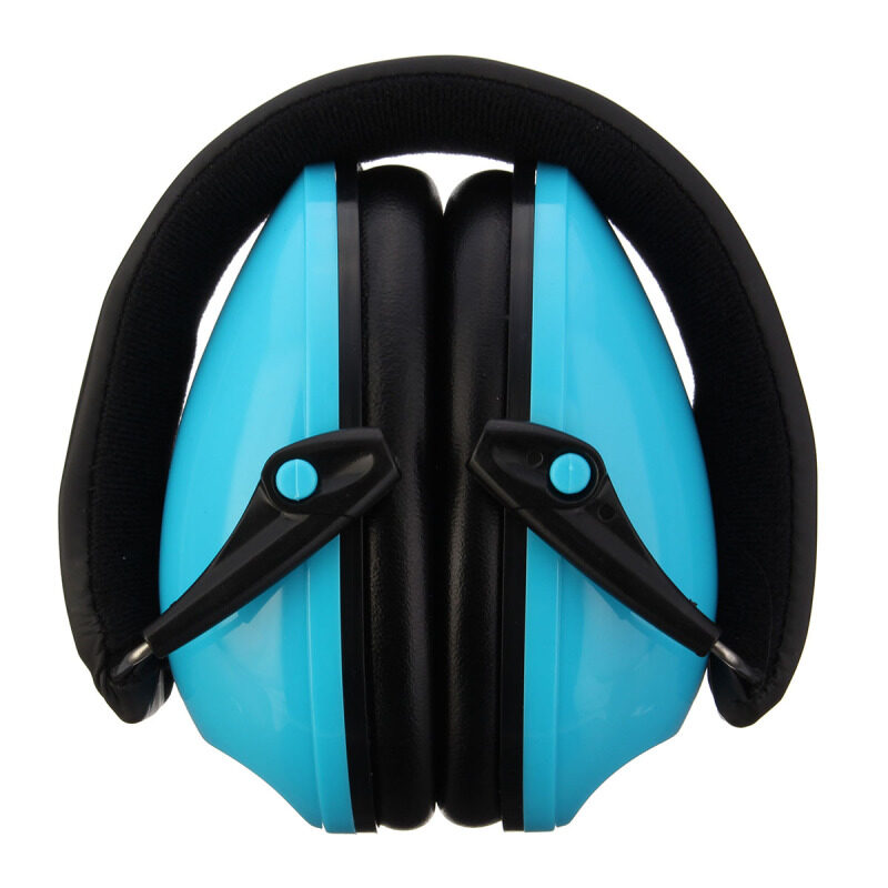 Comfortable Ear Protector Anti-noise Hearing Protection Earmuffs Headset Soundproof Ear muff--(NOT Electronic)   Blue