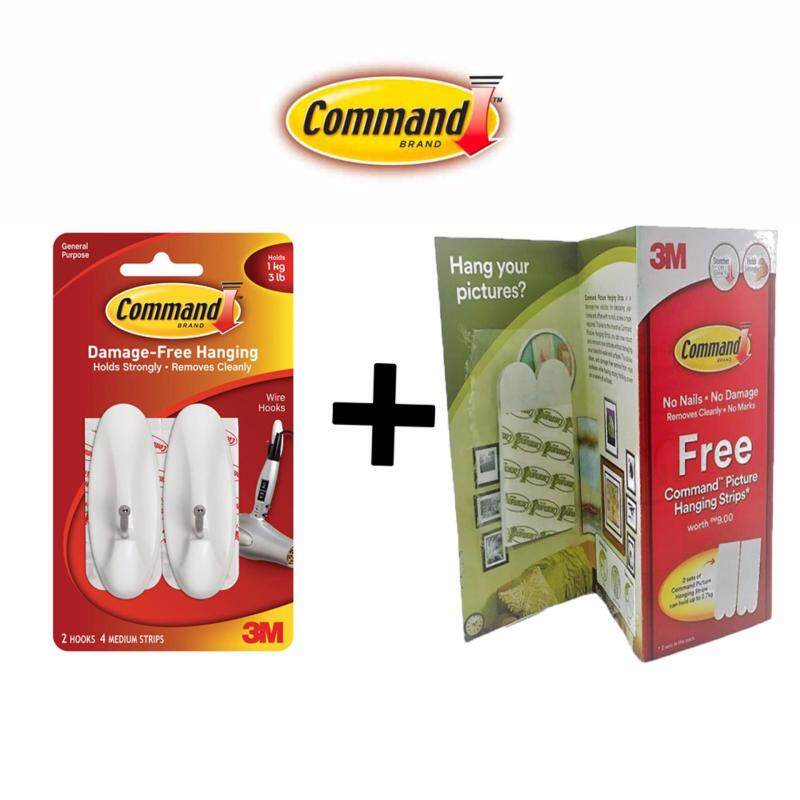 Command Medium Wire Hooks FREE Command Picture Hanging Strips