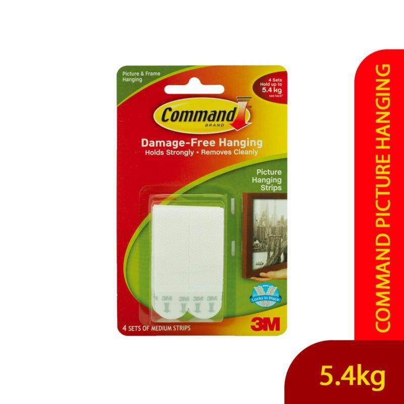 Buy Command Picture Hanging Strips Medium (White) with FREE Command Hook Malaysia