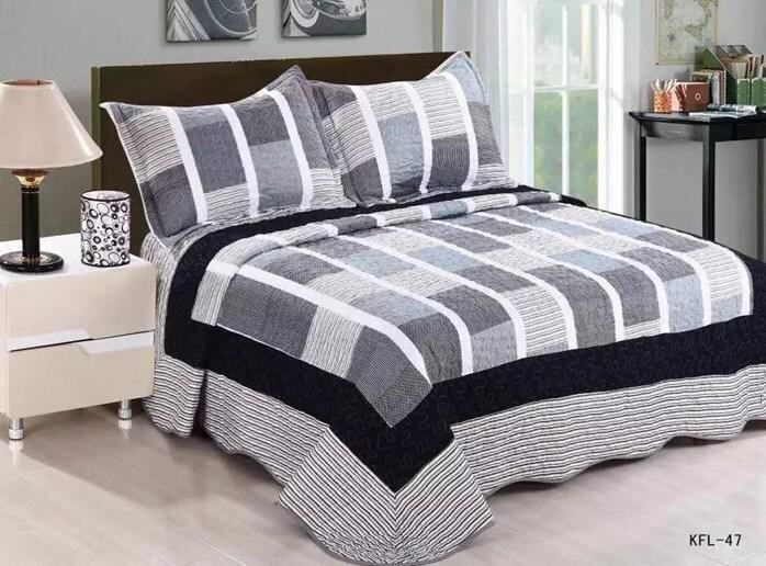 CONTEMPORARY DESIGN 3PC SET PATCHWORK KFL47