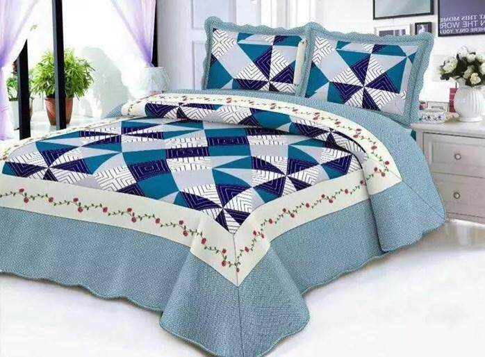 CONTEMPORARY DESIGN 3PC SET PATCHWORK MS55