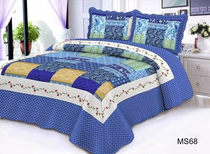 CONTEMPORARY DESIGN 3PC SET PATCHWORK MS68