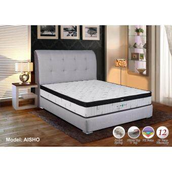 "Harga CRDC SIMONI Aisho King Size Japanese Spec Mattress 10"" PLUSH TOP PU FOAM POCKET SPRING with 12 Years Warranty"