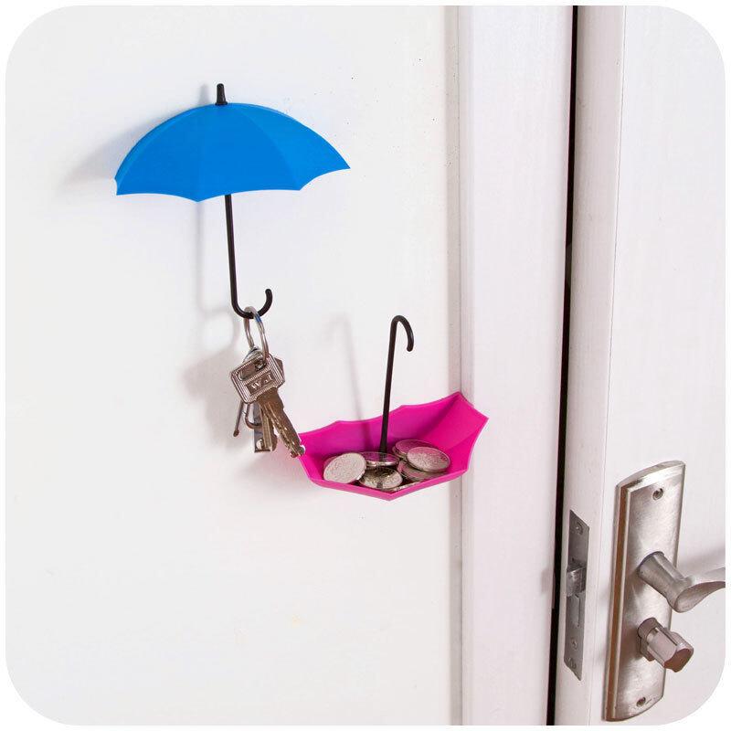 Buy Creative Adhesive Hooks Umbrellas Styling WallsViscose Free Nail Hooks Blue Malaysia