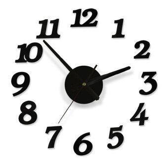 Creative DIY Adhesive Decal Modern Digit Number Home Room Decor Art Wall Clock