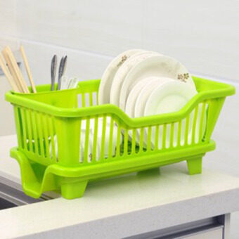 Creative kitchen dishes drain rack dish rack drip dish rack hangingdish rack control water dish rack plate rack shelving rack