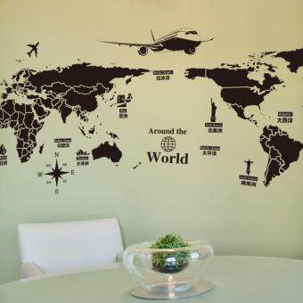 Creative World Travel World Map Removable Wall Stickers - 3