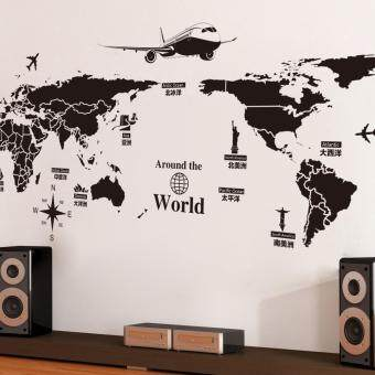 Creative World Travel World Map Removable Wall Stickers - 2