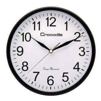 Crocodile No Tick-Tock Noise!!! Large dial surface design Japan QUARTZ sweep seconds movement Full Arabic numerals model CW6666 standard office wall clock *size 24.8 x 4.6 cm