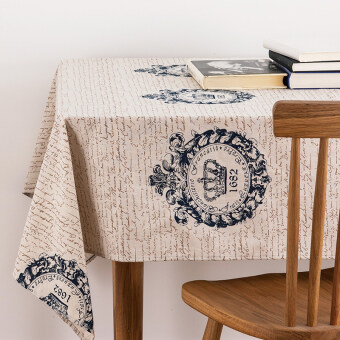 CROWN retro Linen classic Print cover towel tablecloth Price Malaysia