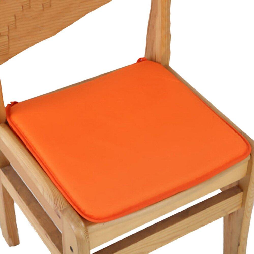 Cushion Office Chair Garden Indoor Dining Seat Pad Tie On Square Foam Patio Uk Orange - intl