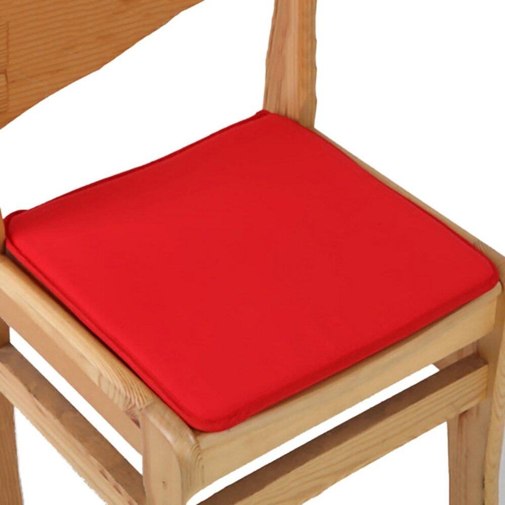 Cushion Office Chair Garden Indoor Dining Seat Pad Tie On Square Foam Patio Uk Red - intl