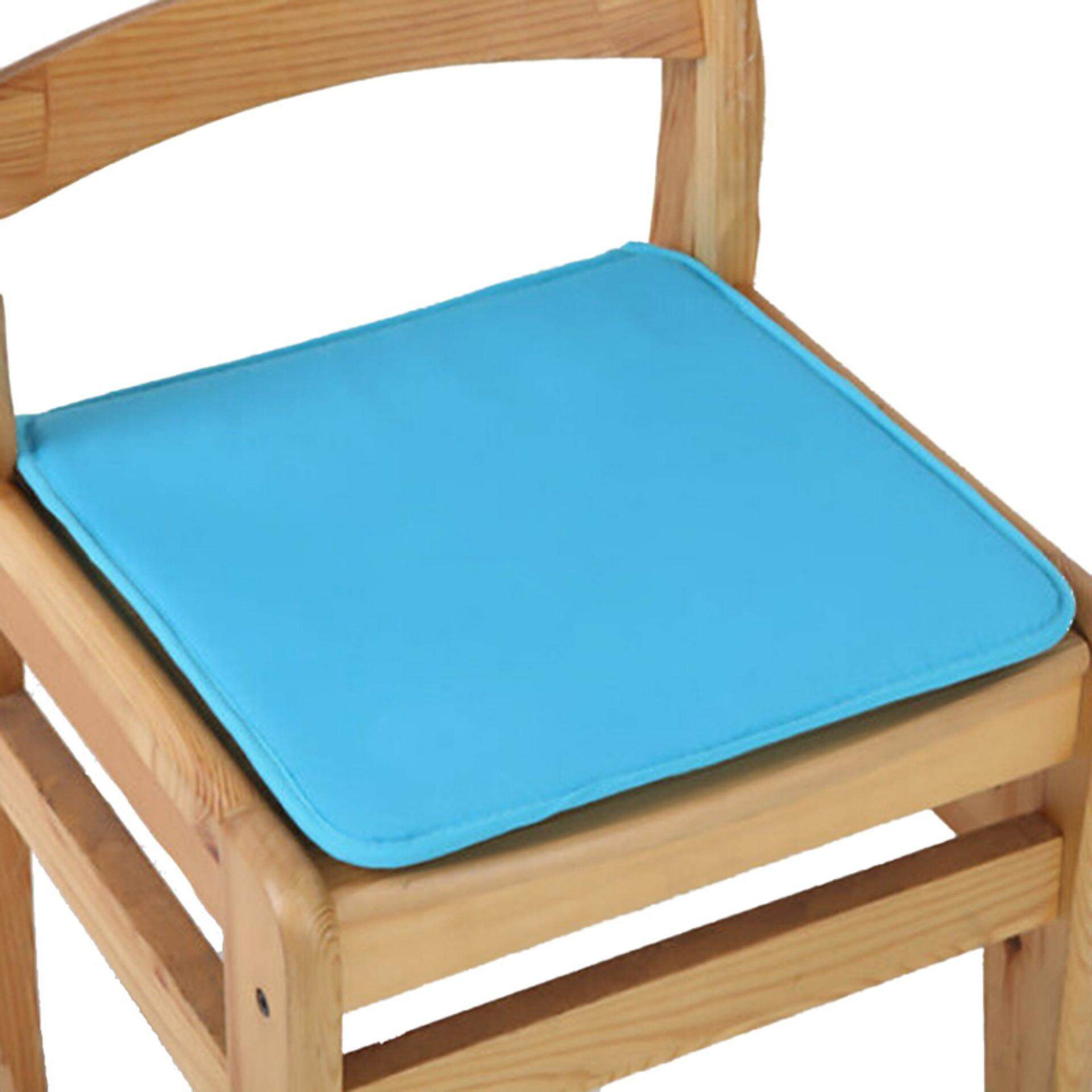 Cushion Office Chair Garden Indoor Dining Seat Pad Tie On Square Foam Patio Uk Sky Blue - intl