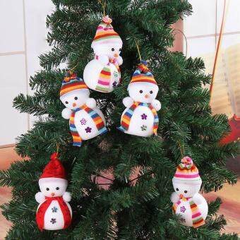 cute snowman ornaments festival party xmas christmas tree hanging decorations - Christmas Wall Hanging Decorations