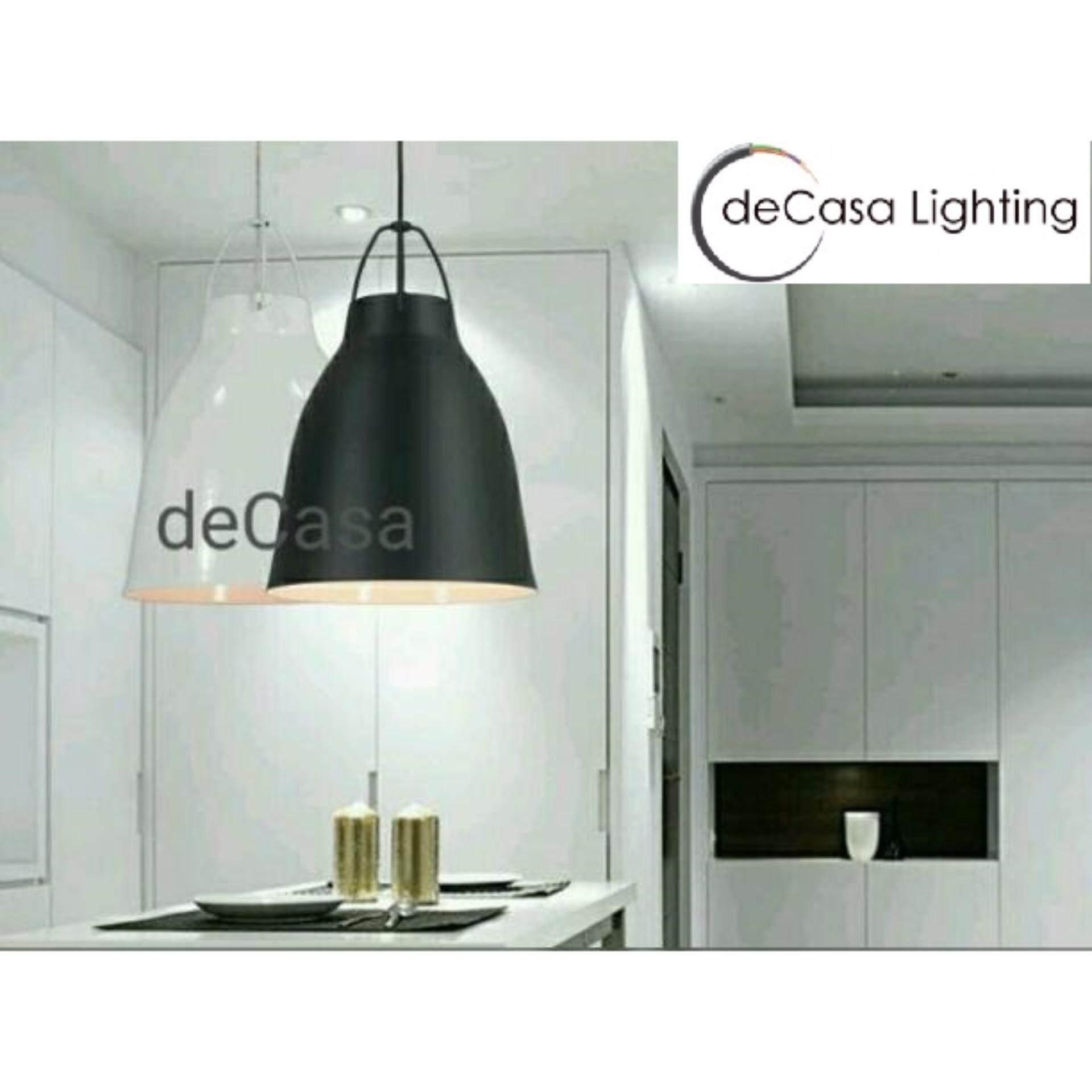 Decasa Designer White Simple Baisc Loft Pendant Light DECASA Designer Ceiling Light (LY-2529-WH)