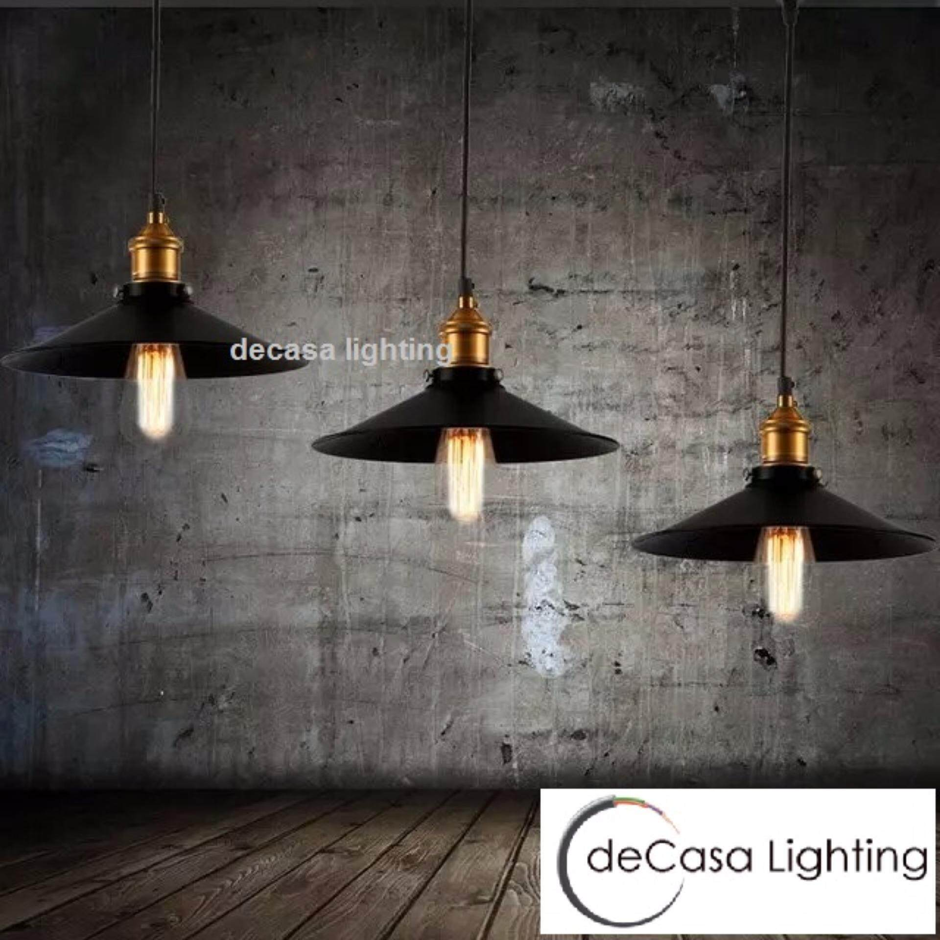 DECASA Hot Item Best Seller Basic E27 Holder Hanging Simple Loft Designer Decorative Pendant Light - Set Of 3 With Long Based