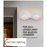 DECASA Loft Wall Light E27 Best Seller Designer Decorative Wall Lamp White Colour (JLC-89020-2WH)