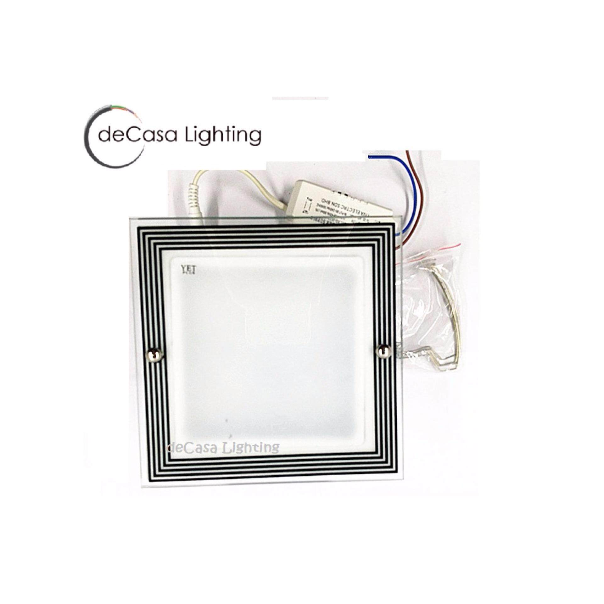 Stock Clearance DECASA Modern Designer LED Recessed Downlight Decasa Lighting 6 Inch Square Downlight Ceiling Light (YV-LED-8096-12W-SQ-DL)