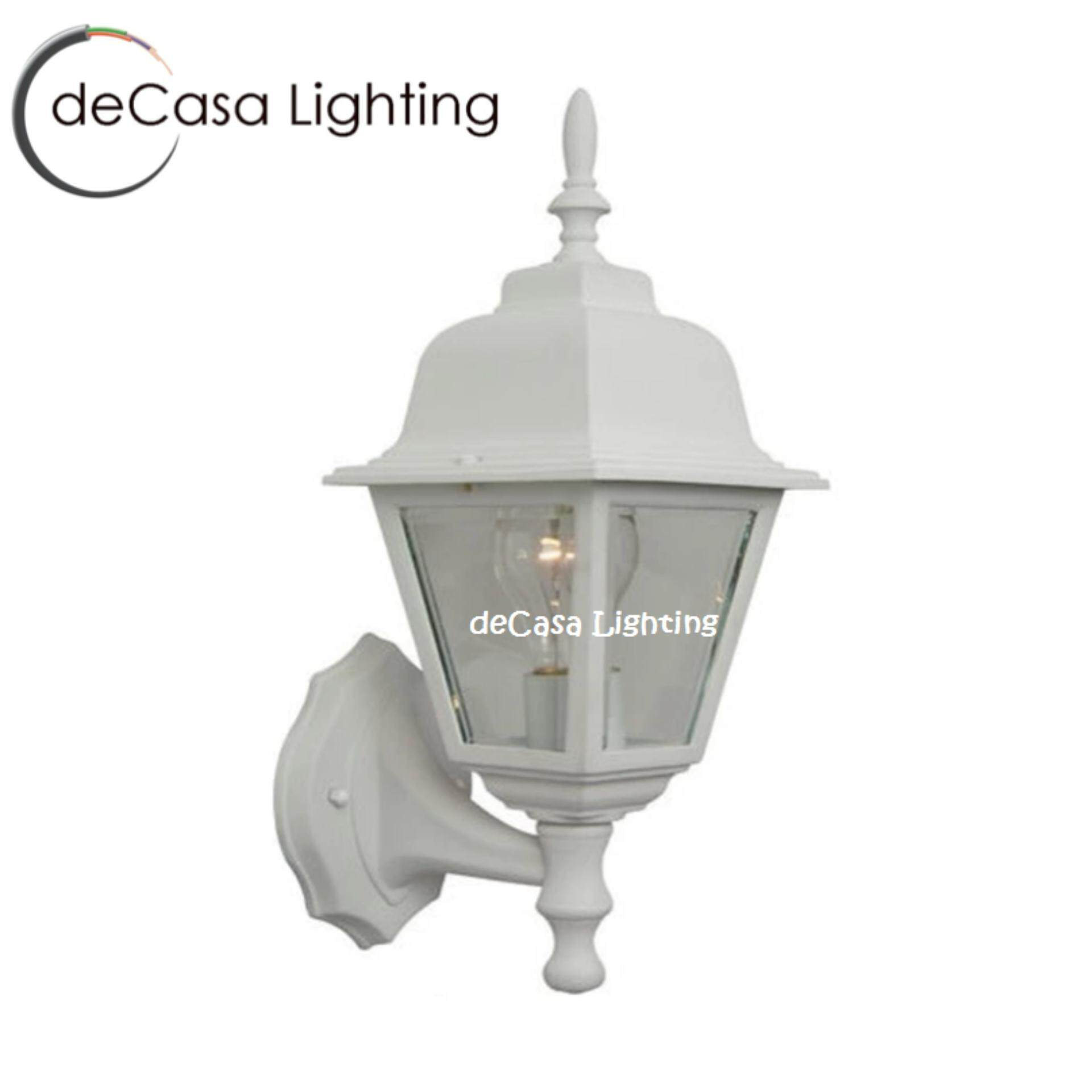 Outdoor Wall Light DECASA OUTDOOR WALL LIGHT-APH-1904A-W Black or White (APH-1904A-W)
