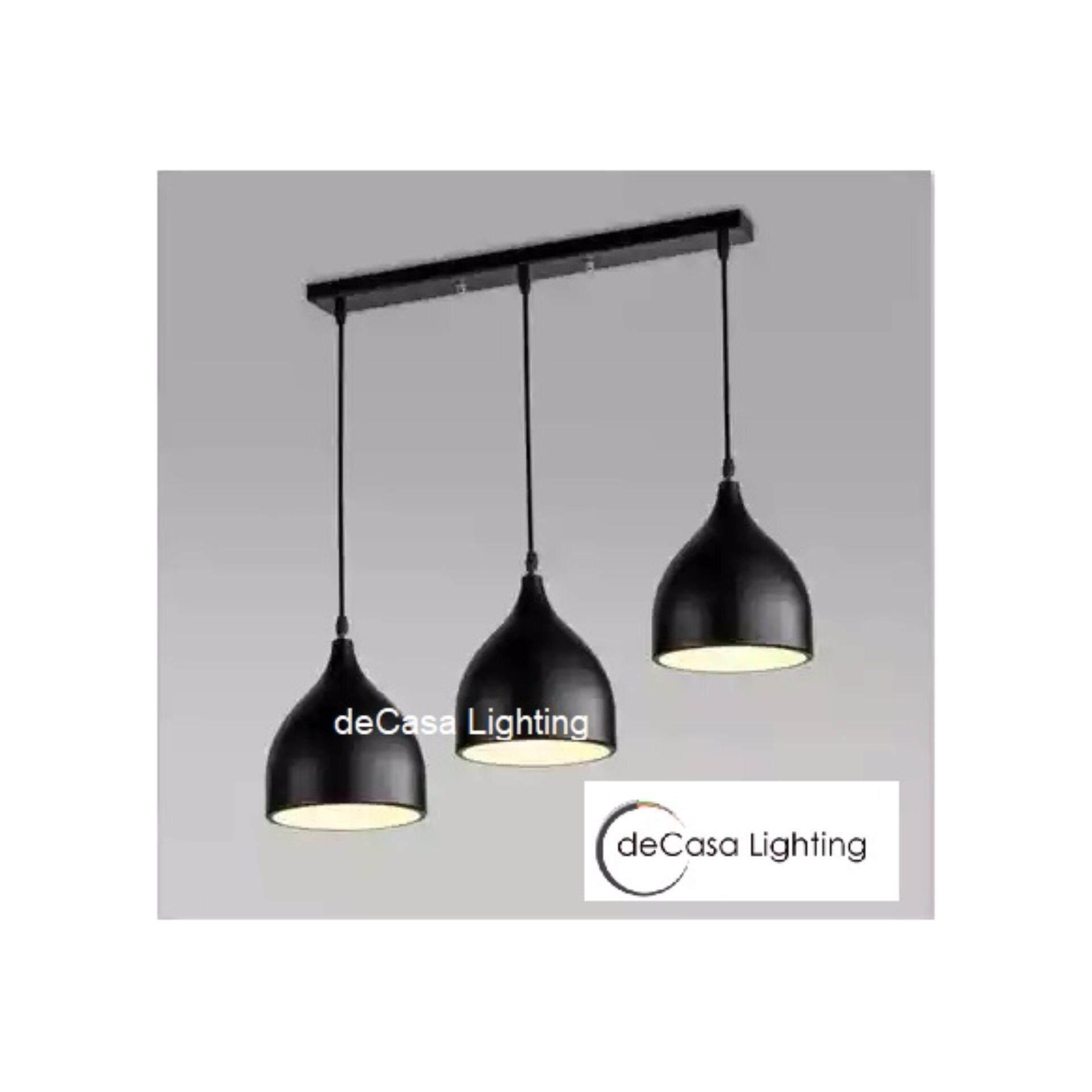 DECASA Set 3 Black Decorative Ceiling Light Best Buy Designer Decorative Pendant Light LY