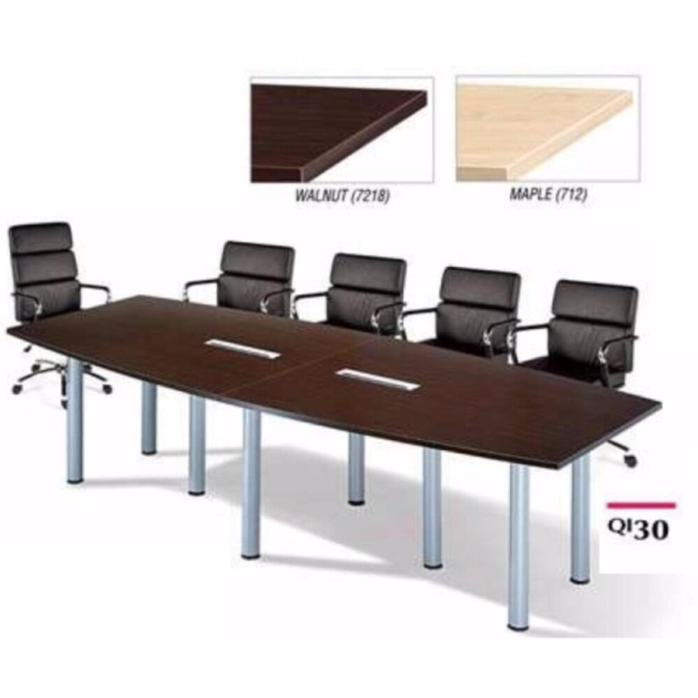 DECO 12FEET CONFERENCE OFFICE TABLE OFFICE DESK OFFICE MEETING TABLE DISCUSSION TABLE WRITING TABLE STUDY TABLE DIRECTOR TABLE BOSS TABLE CLERK TABLE STAFF TABLE CONFERENCE TABLE DINING TABLE RESTING TABLE STAFF TABLE QI30 3000MM(L) X 1200MM(D) X 750MM(H)